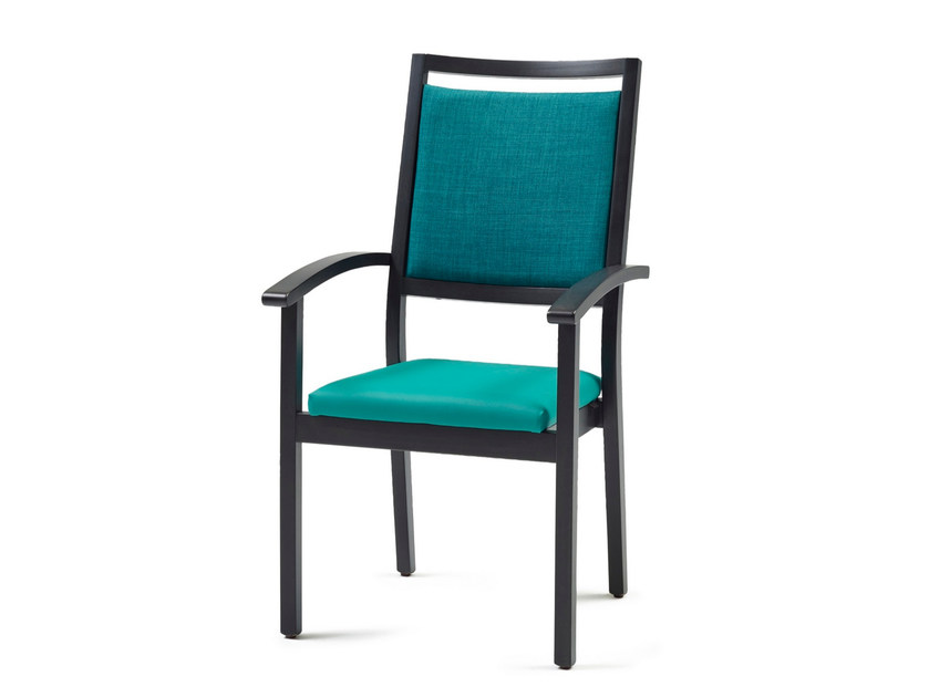 Upholstered stackable fabric chair 3540 + A ST | Stackable chair - Z-Editions