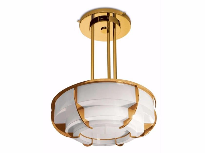 Lampada a sospensione a luce diretta in vetro 355 S | Lampada a sospensione - Jean Perzel