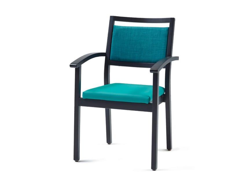 Sedia imbottita impilabile in tessuto 3560 + A ST | Sedia impilabile - Z-Editions
