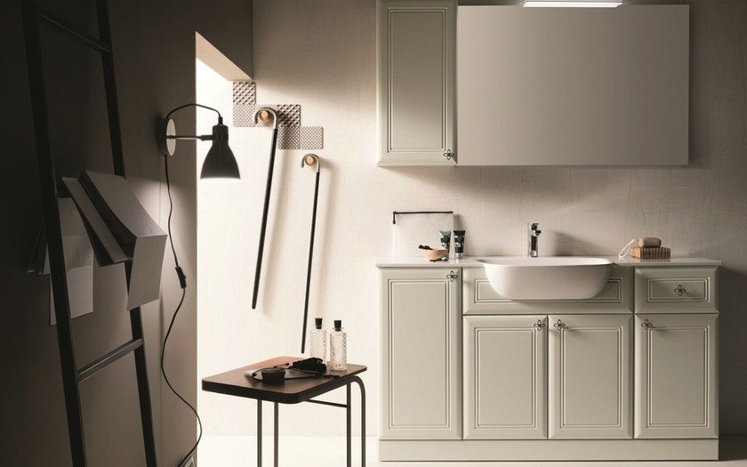 Single vanity unit with mirror 36 - RAB Arredobagno