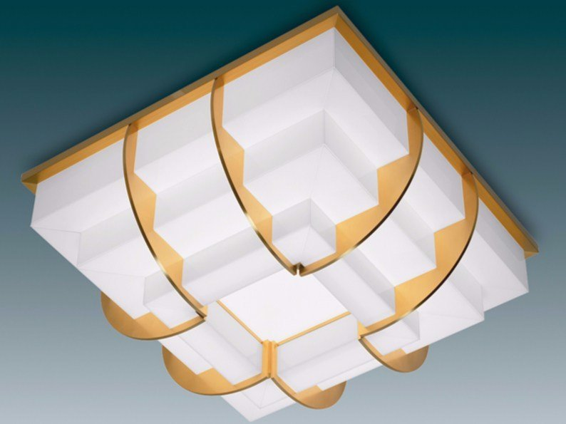 Direct light glass ceiling light 364 | Ceiling light by Jean Perzel