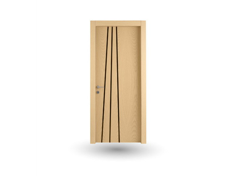 Hinged wooden door IMAGO 389 FRASSINO GHIACCIO WITH INSERT - GD DORIGO