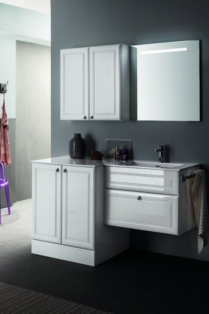 Single vanity unit with mirror 39 - RAB Arredobagno