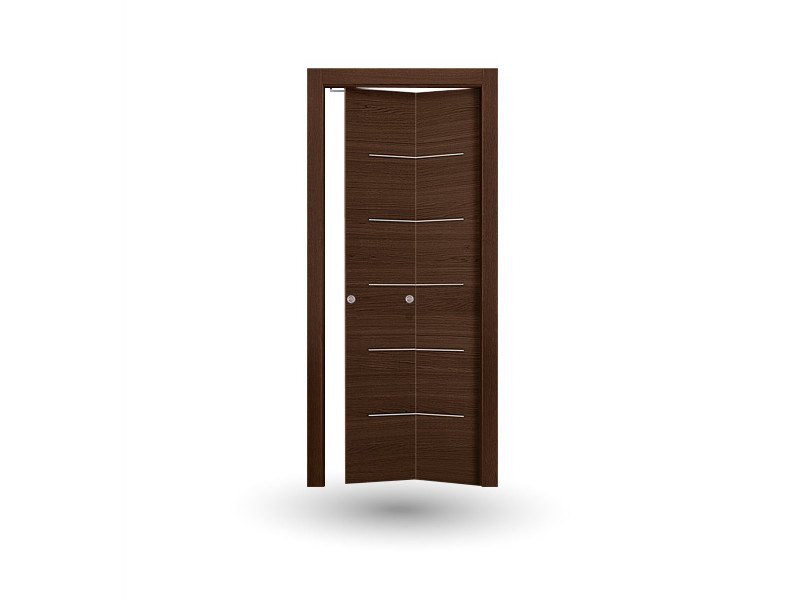 Folding wooden door IMAGO 396 ROVERE MOKA FOLDING SYMMETRICA - GD DORIGO