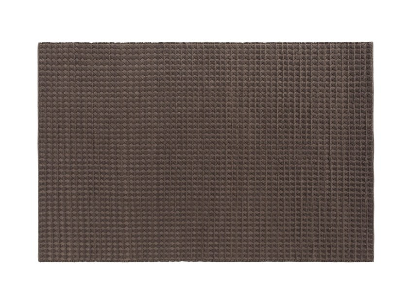 Solid-color rectangular wool rug 3D by GAN