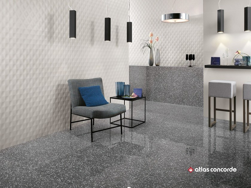 White-paste 3D Wall Cladding 3D WALL DESIGN MESH by Atlas Concorde
