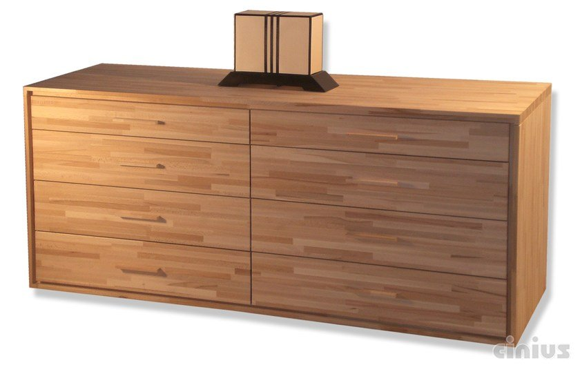 Free standing beech chest of drawers 4+4 | Chest of drawers - Cinius