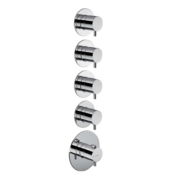 Thermostatic thermostatic shower mixer 4-WAY OUT THERMOSTATIC SELECTORS | Thermostatic shower mixer - NEWFORM