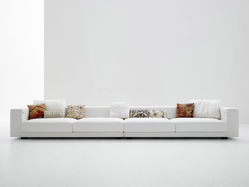 4 seater fabric sofa with removable cover SLIDING SOFA | 4 seater sofa - MDF Italia