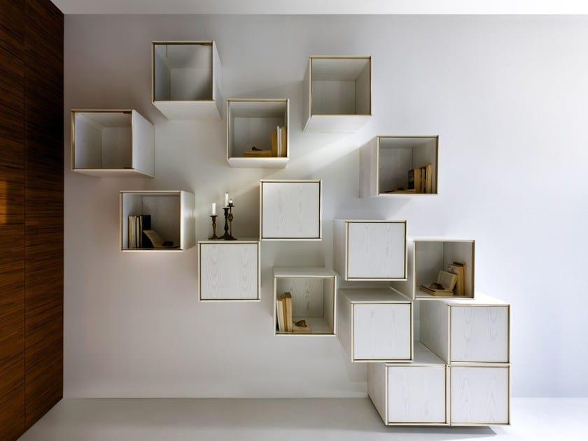 Wood veneer wall cabinet 40/40 by Laurameroni