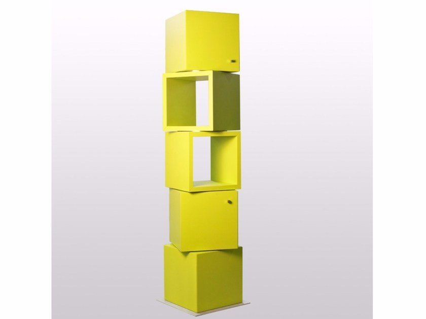 Freestanding swivel modular bookcase 45 GIRI - ARKOF LABODESIGN