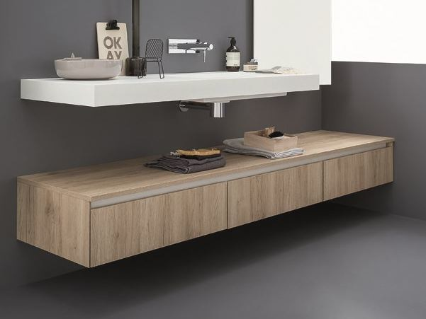Suspended bathroom cabinet 45 | Bathroom cabinet - Birex