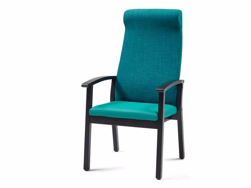 Poltroncina in tessuto con braccioli con schienale alto 4560 + A | Poltroncina - Z-Editions