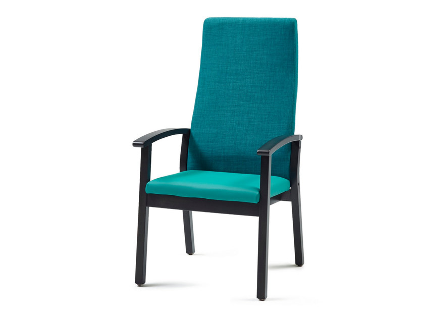 Fabric easy chair with armrests high-back 4561 + A | Easy chair - Z-Editions