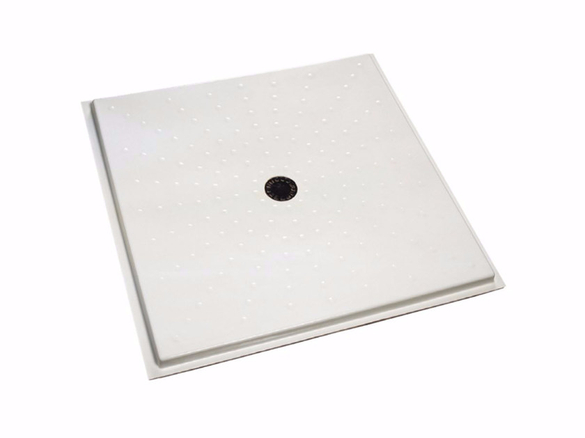 Flush fitting square shower tray 480-490 | Shower tray by Saniline