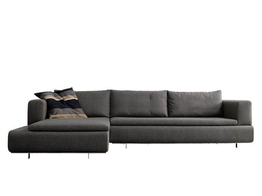 Fabric sofa with chaise longue 485 FORUM | Sofa with chaise longue by Vibieffe