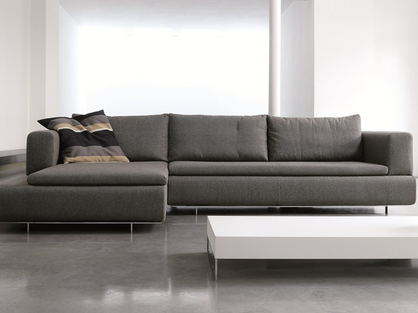 Fabric sofa with chaise longue 485 FORUM | Sofa with chaise longue - Vibieffe
