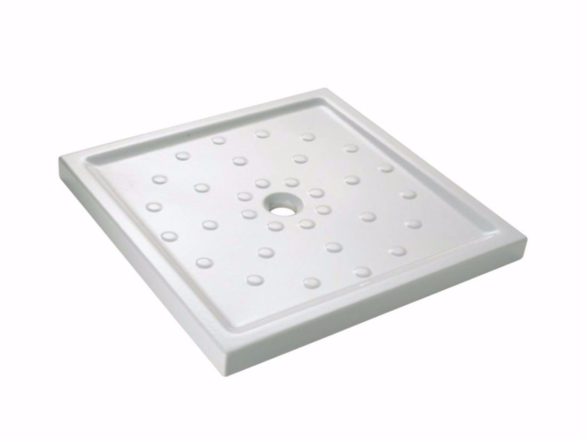 Flush fitting square shower tray 495 | Shower tray by Saniline