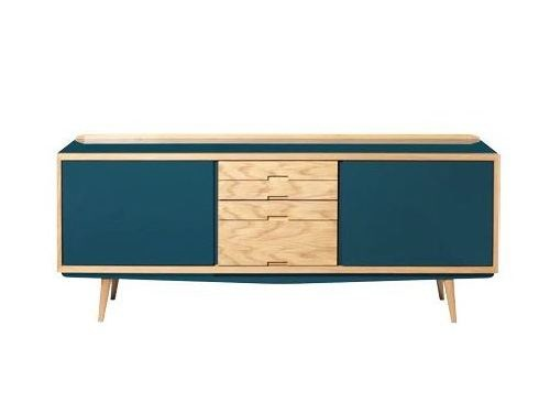 Wooden sideboard with doors with drawers 50'S   Sideboard - RED EDITION