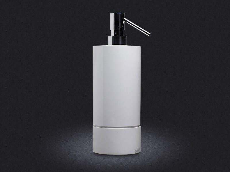 Resin liquid soap dispenser 500 ROUND - Vallvé Bathroom Boutique