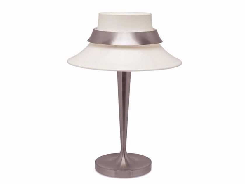 Lampada da comodino a luce diretta in metallo 517 | Lampada da tavolo by Jean Perzel