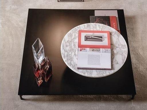 Tavolino basso laccato quadrato in legno 525 NORDIC   Tavolino da salotto by Vibieffe