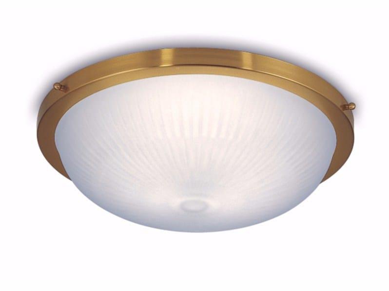 Plafoniera a luce diretta in vetro 539 E | Plafoniera - Jean Perzel