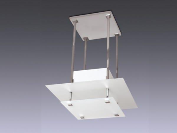 Lampada a sospensione a luce diretta in vetro 57 BIS | Lampada a sospensione - Jean Perzel