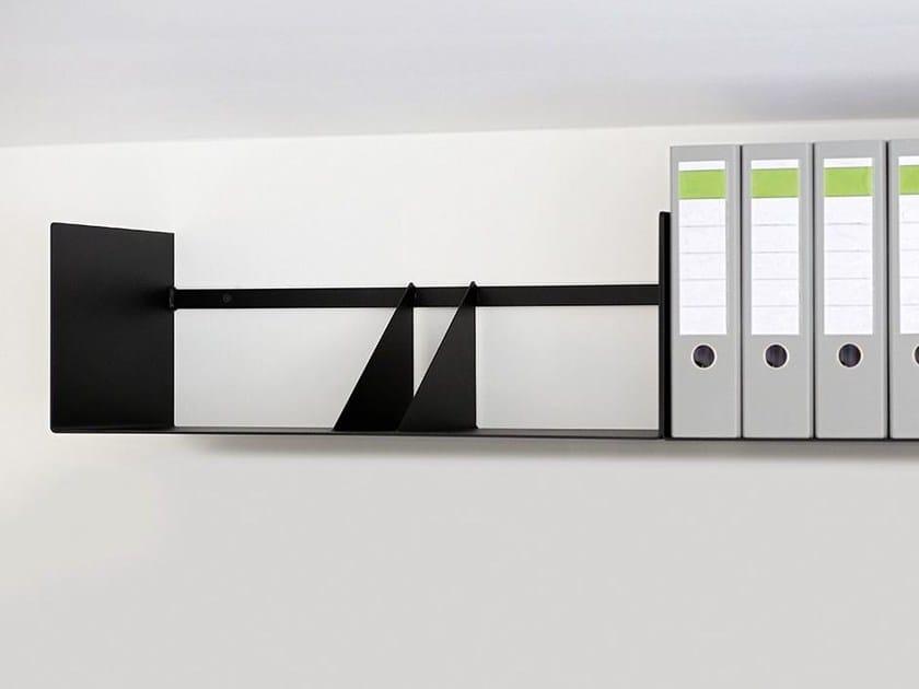 Steel wall shelf 598-1   Wall shelf - Wissmann raumobjekte