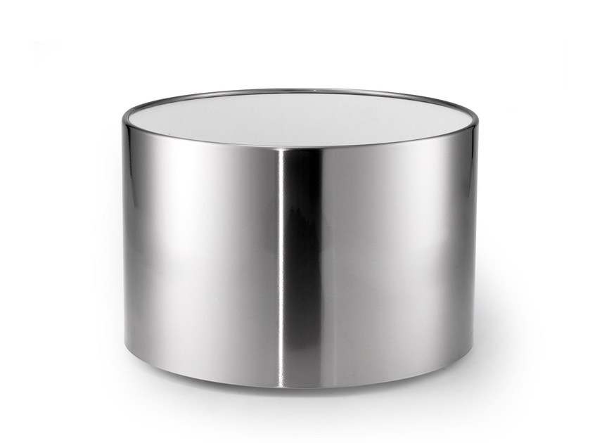 Round stainless steel Flower pot 59PFB | Flower pot by rosconi