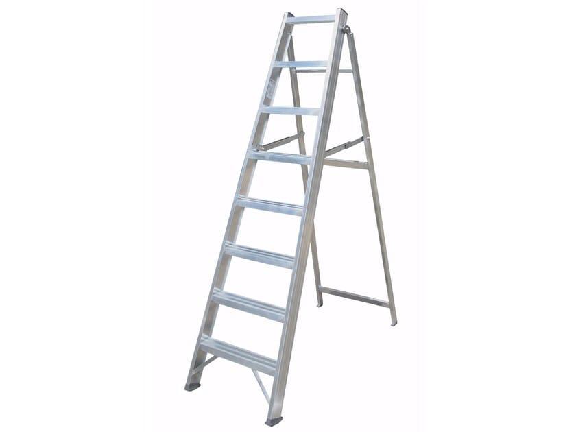 Aluminium heavy duty ladder 6016 - Frigerio Carpenterie