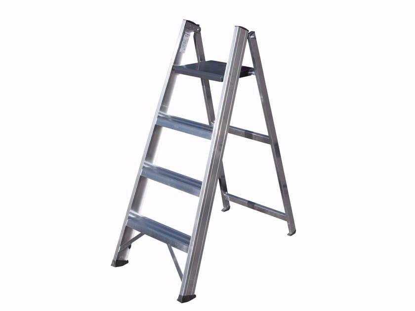 Aluminium heavy duty ladder 6017 - Frigerio Carpenterie