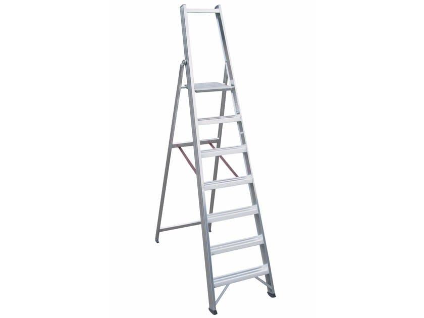 Aluminium heavy duty ladder 6026 L - Frigerio Carpenterie