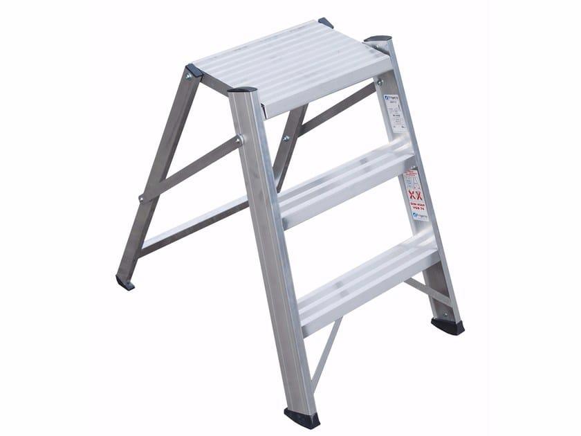 Aluminium heavy duty ladder 6027 - Frigerio Carpenterie