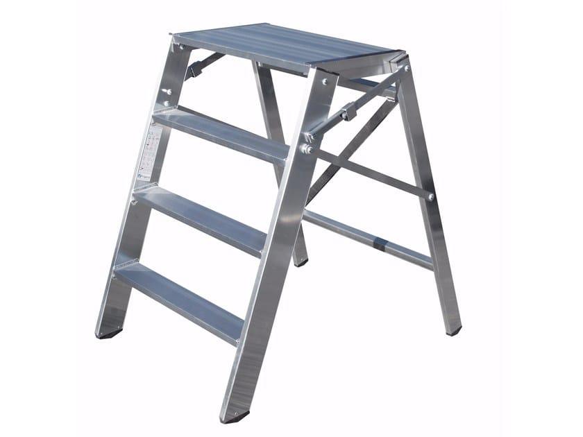 Aluminium heavy duty ladder 6029 - Frigerio Carpenterie
