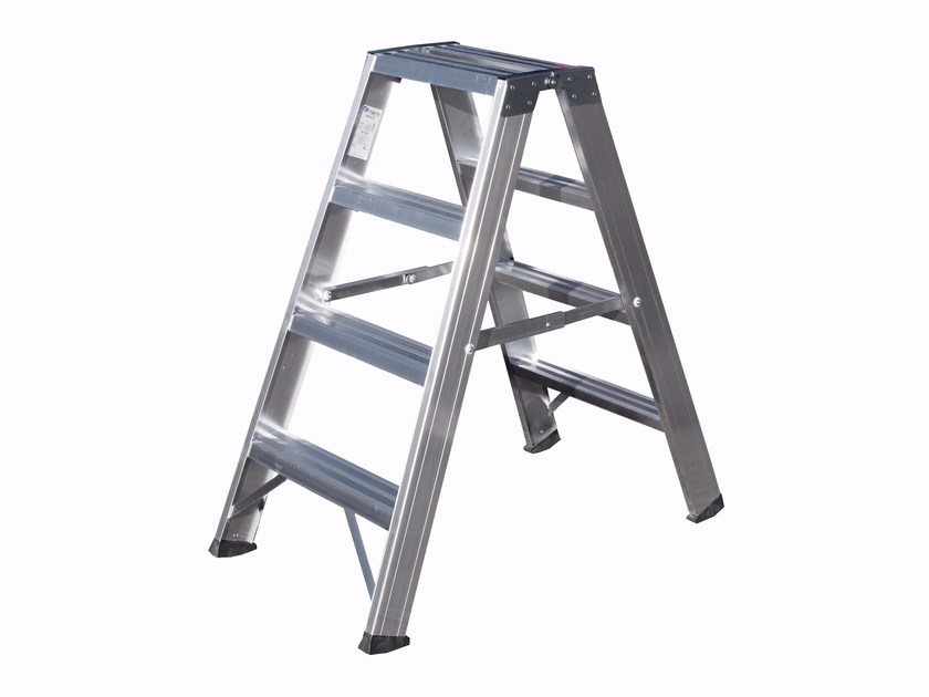 Aluminium heavy duty ladder 6033 by Frigerio Carpenterie
