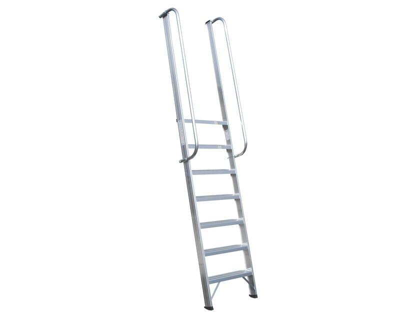 Aluminium heavy duty ladder 6078 - Frigerio Carpenterie