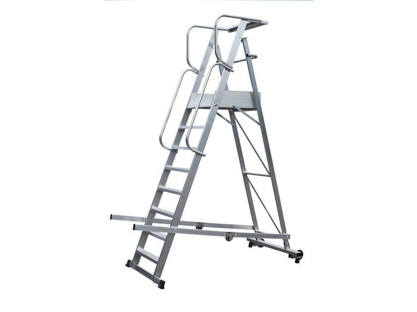 Aluminium heavy duty ladder 6082 - Frigerio Carpenterie