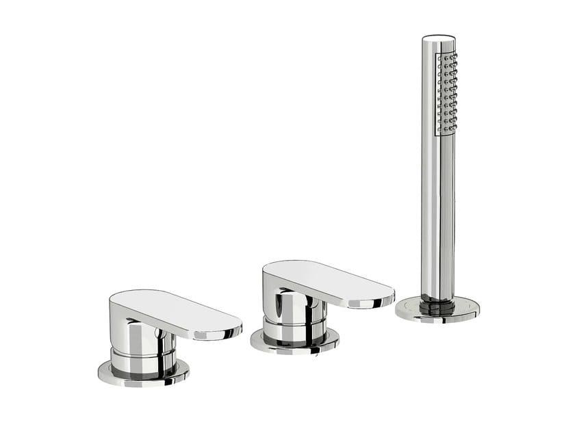 3 hole bathtub set with hand shower SMILE 64 - 6431504 - Fir Italia