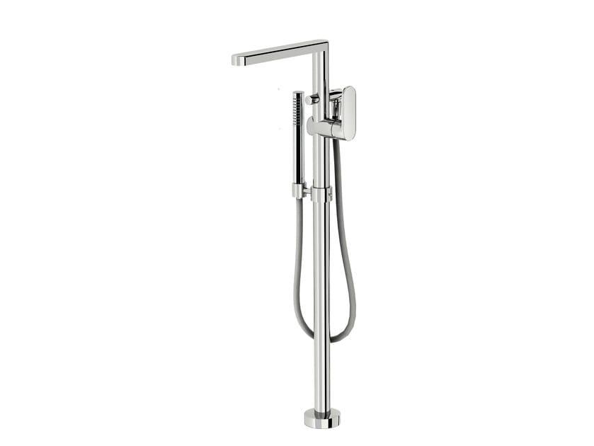 Floor standing bathtub mixer with hand shower SMILE 64 - 6433008 - Fir Italia