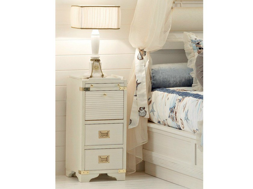 Wooden bedside table with drawers 653 | MILLERIGHE - Caroti