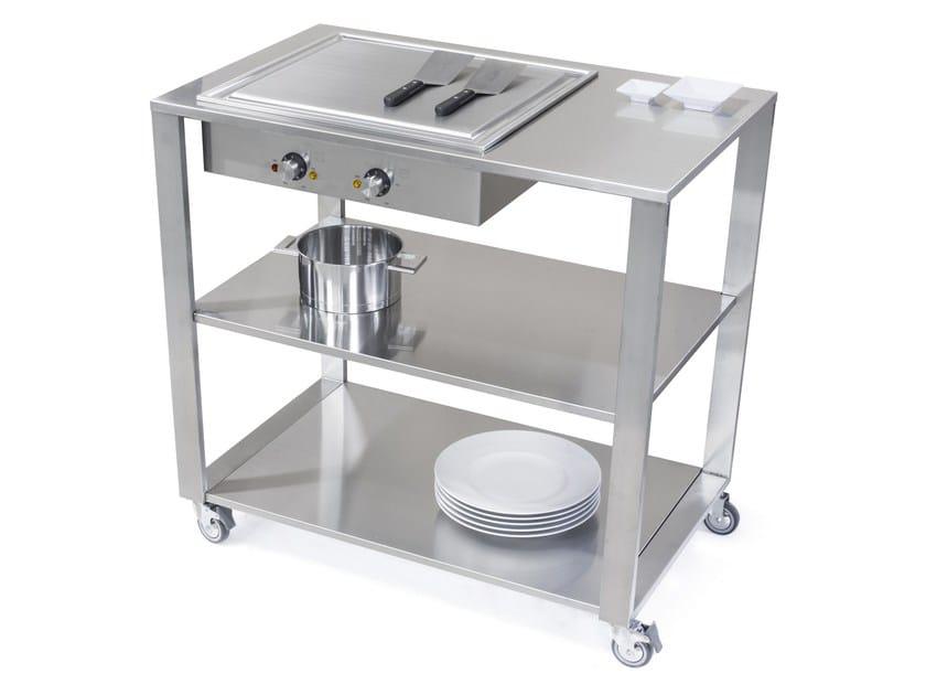 Modulo cucina freestanding con piastra teppanyaki 669110 - Cucina freestanding ...