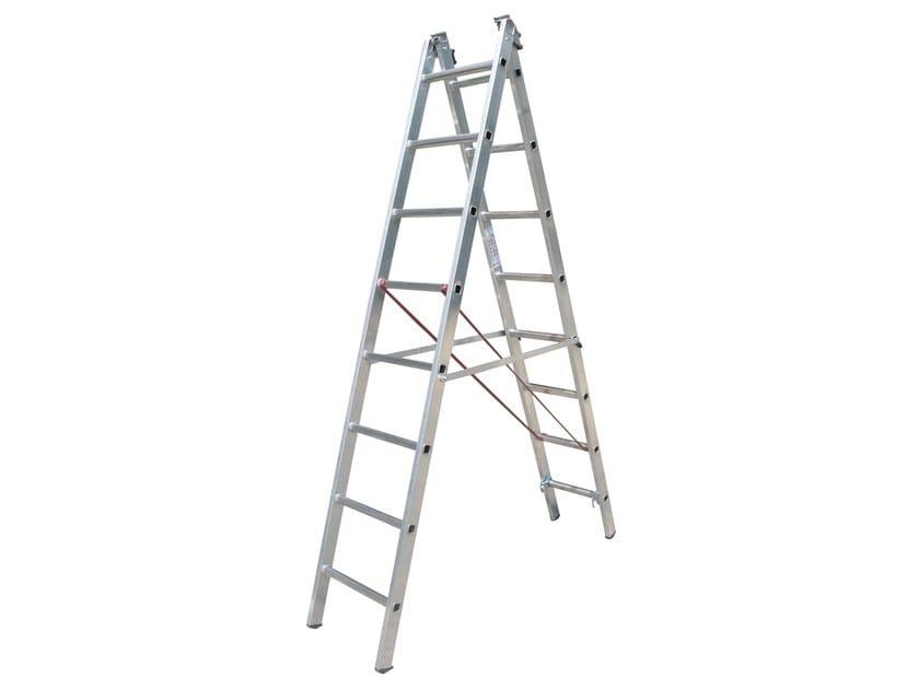 Aluminium heavy duty ladder 691 - Frigerio Carpenterie