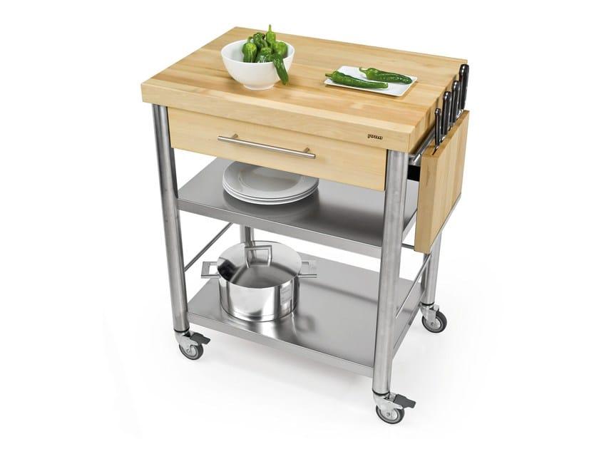 Modulo cucina freestanding in acciaio inox e legno 692701   Modulo ...
