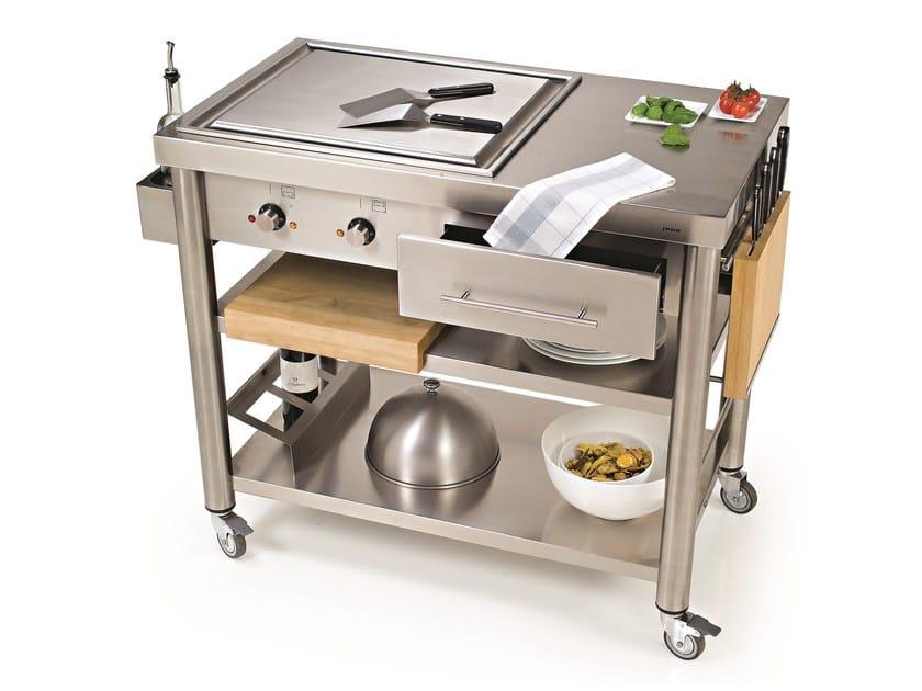 Modulo cucina freestanding con piastra teppanyaki 697110 - Cucina freestanding ...