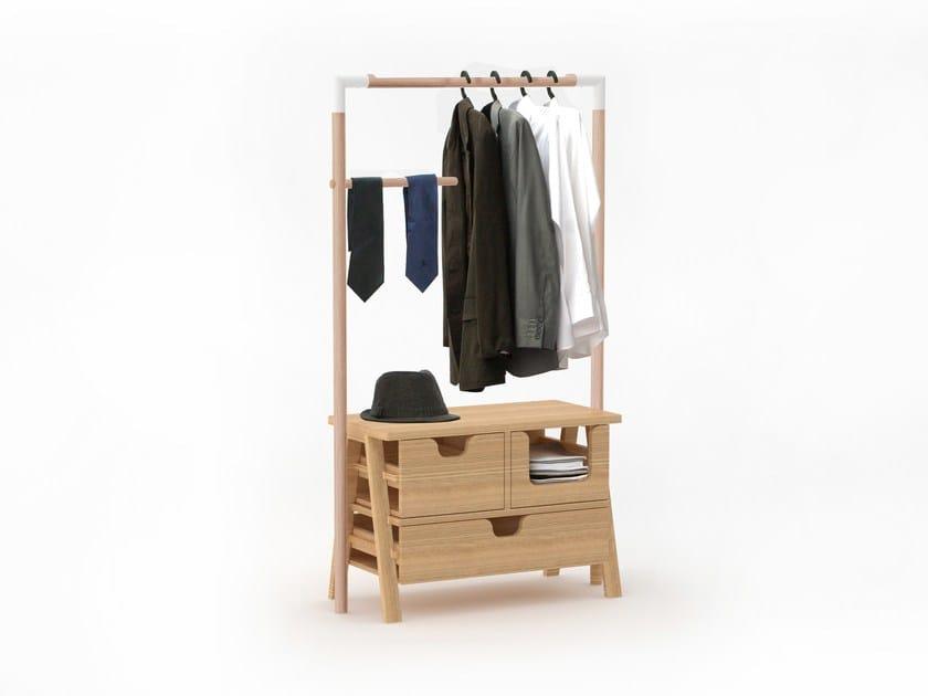 Teak coat rack 7 DAYS - Specimen Editions