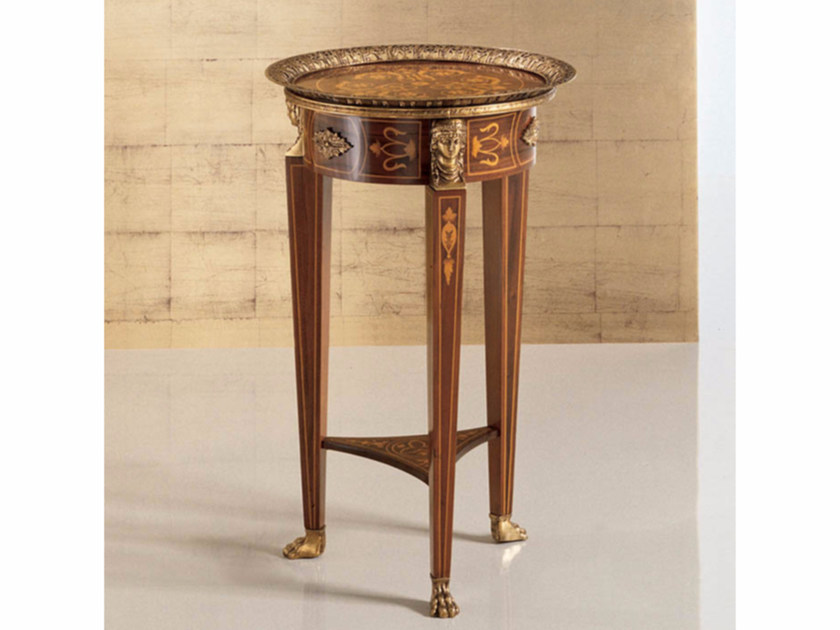 Round high side table 75 | Coffee table - Rozzoni Mobili d'Arte