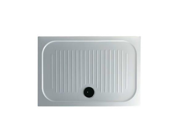 Anti-slip rectangular shower tray H6 - FLAT - 75 x 110 by GALASSIA