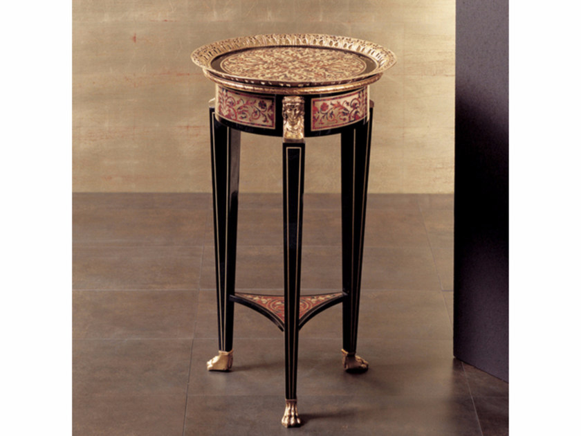 Round high side table 75B | Coffee table - Rozzoni Mobili d'Arte