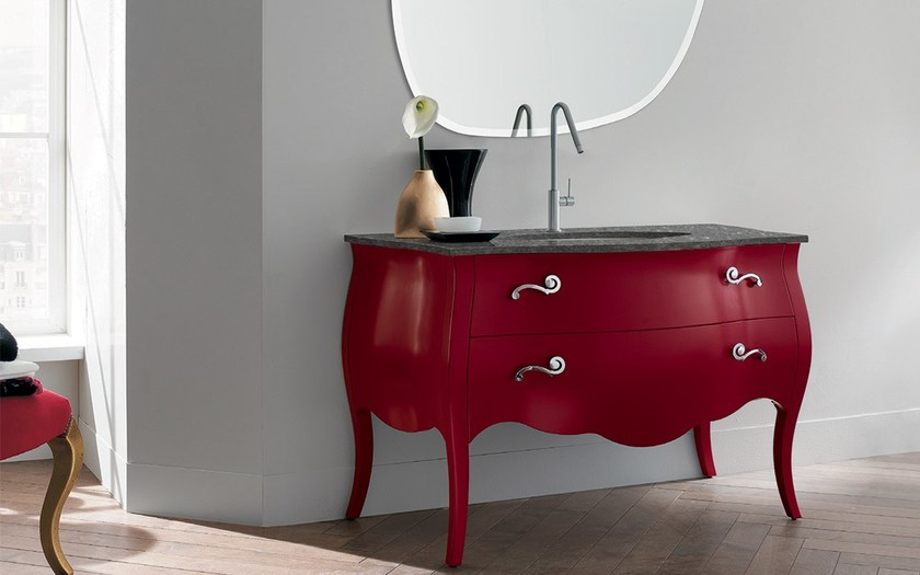 Single vanity unit with drawers 76 - RAB Arredobagno
